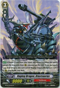 Cardfight Vanguard ENGLISH Demonic Lord Invasion Single Card Rare BT03-033EN Raging Dragon, Blastsaurus