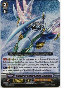 Cardfight Vanguard ENGLISH Demonic Lord Invasion Single Card SP Rare BT03-S10EN Knight of Godly Speed, Galahad