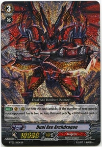 Cardfight Vanguard ENGLISH Demonic Lord Invasion Single Card SP Rare BT03-S11ENDual Axe Archdragon