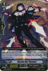 Cardfight Vanguard ENGLISH Demonic Lord Invasion Single Card Double Rare RR BT03-012EN Doreen the Thruster