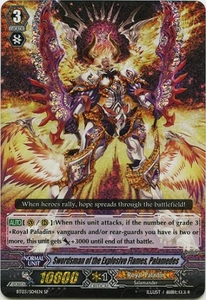 Cardfight Vanguard ENGLISH Demonic Lord Invasion Single Card SP Rare BT03-S04EN Swordsman of the Explosive Flames, Palamedes