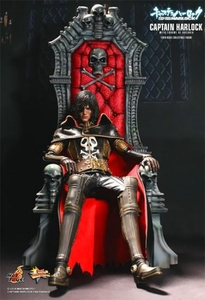 Captain Harlock Hot Toys 1/6 Scale Collectible Figure Captain Harlock & Throne of Arcadia Pre-Order ships September