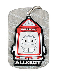 Dairy Allergy Alert Tag