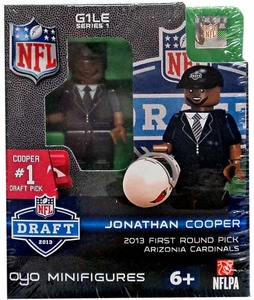 OYO Football NFL Draft First Round Picks Building Brick Minifigure Johnathan Cooper [Arizona Cardinals] #7 Draft Pick