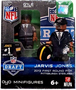 OYO Football NFL Draft First Round Picks Building Brick Minifigure Jarvis Jones [Pittsburgh Steelers] #17 Draft Pick
