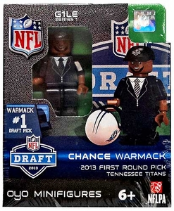 OYO Football NFL Draft First Round Picks Building Brick Minifigure Chance Warmack [Tennessee Titans] #10 Draft Pick