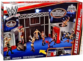 Mattel WWE Wrestling Exclusive RAW Playset Backstage Brawl [Works with Raw Superstar Entrance Stage!]
