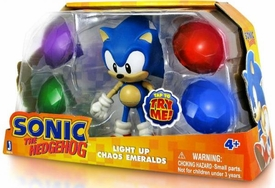 Sonic 5 Inch Action Figure Sonic with Light Up Chaos Emeralds
