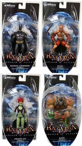 DC Direct Batman Arkham Asylum Series 2 Set of 4 Action Figures [Bane, Zsasz, Armored Batman & Poison Ivy]