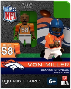 OYO Football NFL Building Brick Minifigure Von Miller [Denver Broncos]