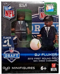 OYO Football NFL Draft First Round Picks Building Brick Minifigure DJ Fluker [San Diego Chargers] #11 Draft Pick