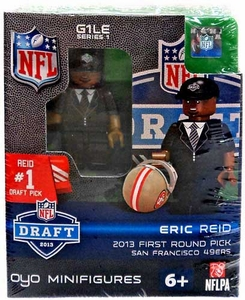 OYO Football NFL Draft First Round Picks Building Brick Minifigure Eric Reid [San Diego Chargers] #18 Draft Pick