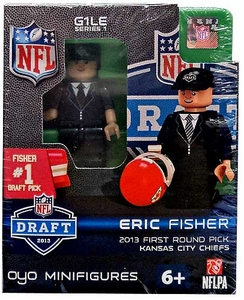 OYO Football NFL Draft First Round Picks Building Brick Minifigure Eric Fisher [Kansas City Chiefs] #1 Draft Pick
