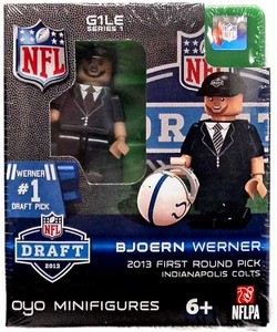 OYO Football NFL Draft First Round Picks Building Brick Minifigure Bjoern Werner [Indianapolis Colts] #24 Draft Pick