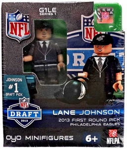 OYO Football NFL Draft First Round Picks Building Brick Minifigure Lane Johnson [Philadelphia Eagles] #4 Draft Pick