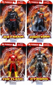 DC Direct Flashpoint Series 1 Set of 4 Action Figures [Flash, Wonder Woman, Batman & Cyborg]