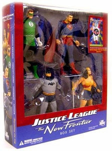 DC Direct JLA New Frontier Collectors Action Figure 4-Pack Boxed Set [Superman, Batman, Wonder Woman & Green Lantern]