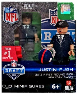 OYO Football NFL Draft First Round Picks Building Brick Minifigure Justin Pugh [New York Giants] #19 Draft Pick