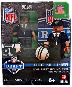 OYO Football NFL Draft First Round Picks Building Brick Minifigure Dee Milliner [New York Jets] #9 Draft Pick