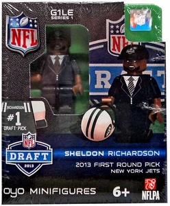 OYO Football NFL Draft First Round Picks Building Brick Minifigure Sheldon Richardson [New York Jets] #13 Draft Pick