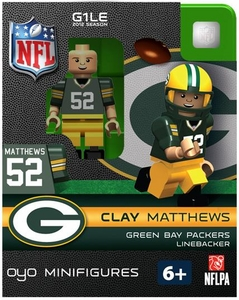 OYO Football NFL Building Brick Minifigure Clay Matthews [Green Bay Packers]