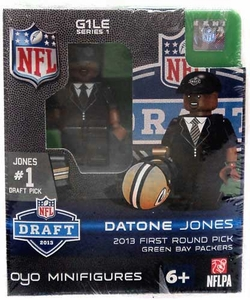 OYO Football NFL Draft First Round Picks Building Brick Minifigure Datone Jones [Green Bay Packers] #26 Draft Pick