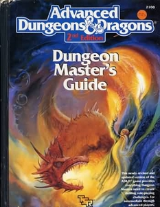 Advanced Dungeons & Dragons 2nd Edition Vintage Book Hardcover Dungeon Master's Guide [Used Condition: Fine]