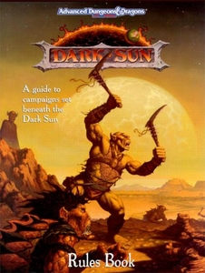 Advanced Dungeons & Dragons Vintage Book Softcover Dark Sun Rulebook [Used Condition: Good]