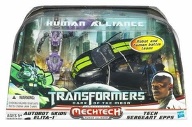 Transformers 3: Dark of the Moon Human Alliance Skids & Elita-1 with Sergeant Epps