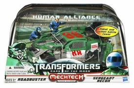 Transformers 3: Dark of the Moon Human Alliance Roadbuster with Sergeant Recon