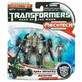 Transformers 3: Dark of the Moon Human Alliance Basic Action Figure Backfire with Spike Witwicky