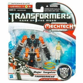 Transformers 3: Dark of the Moon Human Alliance Basic Action Figure Thunderhead with Major Tungsten