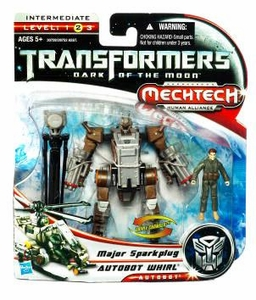 Transformers 3: Dark of the Moon Human Alliance Basic Action Figure Autobot Whirl with Major Sparkplug
