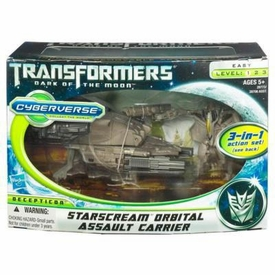 Transformers 3: Dark of the Moon Cyberverse Action Figure Set Starscream with Orbital Assault Carrier