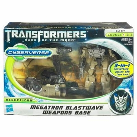 Transformers 3: Dark of the Moon Cyberverse Action Figure Megatron with Blastwave Weapons Base