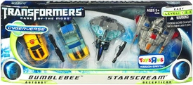 Transformers 3: Dark of the Moon Exclusive Cyberverse Evolution Legion Action Figure 4-Pack Bumblebee vs. Starscream