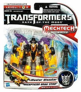 Transformers 3: Dark of the Moon Human Alliance Basic Action Figure Decepticon Dragstrip with Master Disaster