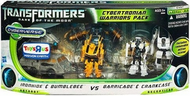 Transformers 3: Dark of the Moon Exclusive Cyberverse Legion Action Figure Playset Cybertronian Warriors Pack [Ironhide & Bumblebee Vs Barricade & Crankcase]