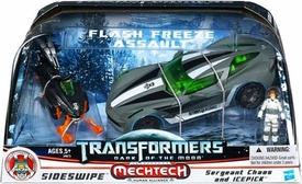 Transformers 3: Dark of the Moon Exclusive Human Alliance Flash Freeze Assault [Sideswipe with Sergeant Chaos & Icepick]