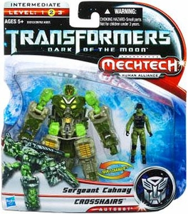 Transformers 3: Dark of the Moon Human Alliance Basic Action Figure Crosshairs with Sergeant Cahnay