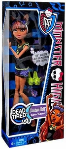 Monster High Dead Tired BASIC Doll Clawdeen Wolf