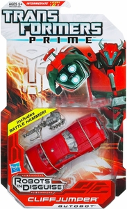 Transformers Prime Robots in Disguise Deluxe Action Figure Cliffjumper [Includes Battle Hammer!]