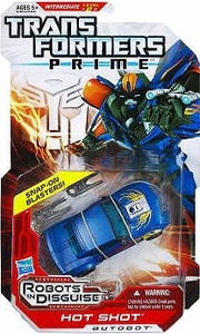 Transformers Prime Robots in Disguise Deluxe Action Figure Hot Shot [Snap-On Blaster!] BLOWOUT SALE!