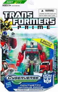 Transformers Prime Cyberverse Commander Action Figure Nightwatch Optimus Prime