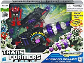 Transformers Prime Cyberverse Commander Action Figure Energon Driller with Knock Out