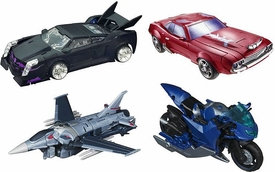 Transformers Prime Set of 4 Deluxe FIRST EDITION Action Figures [Starscream, Cliffjumper, Arcee & Vehicon]