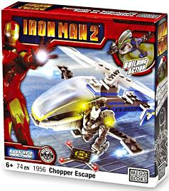 Iron Man 2 Mega Bloks Set #1956 War Machine Chopper Escape