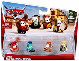 Disney / Pixar CARS MAINLINE 1:55 Die Cast Car 4-Pack Uncle Topolino's Band [Festival Italiano 7, 8, 9 & 10/10]