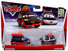 Disney / Pixar CARS MAINLINE 1:55 Die Cast Car 2-Pack Yokoza & Chisaki [Tuners 6 & 7/10]