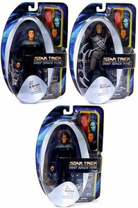 Diamond Select Toys Star Trek Deep Space Nine Series 2 Set of 3 Action Figures [O'Brien, Bashir & Martok]